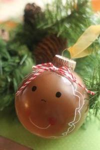 DIY gingerbread ornament