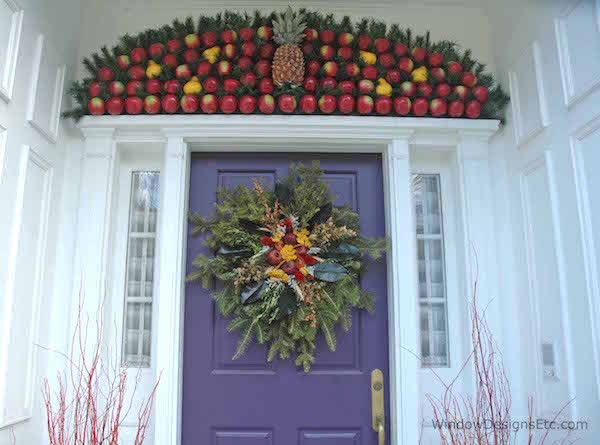 Customize your front door with organic and natural materials