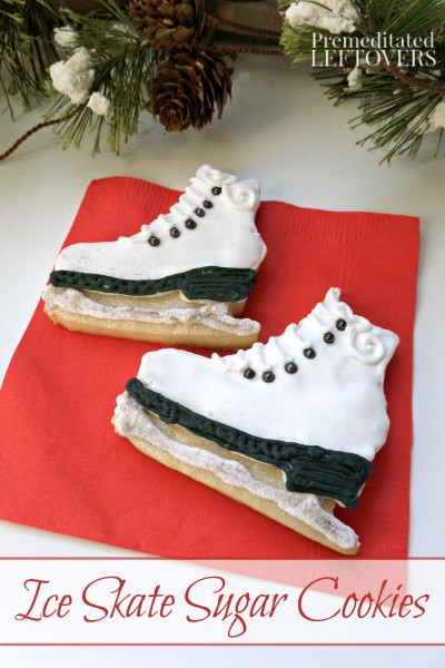 Ice Skate Sugar Cookie