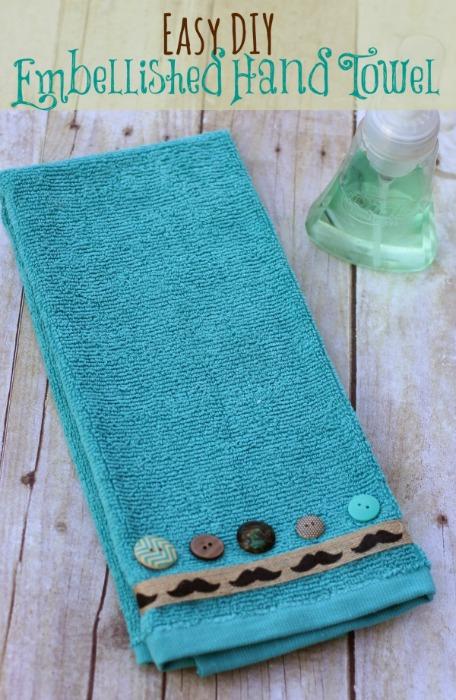 DIY embellished hand towel