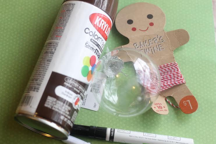 gingerbread ornament supplies