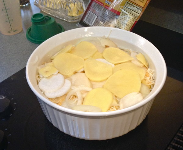 Turnip and Potato Casserole Layers