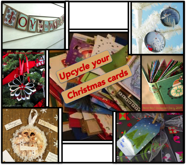 upcycle your christmas cards