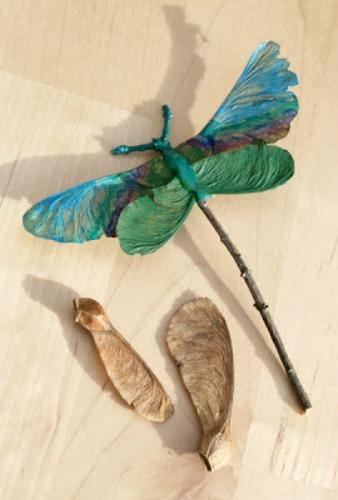 dragonfly woodland ornament