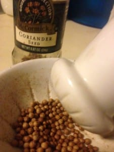 About Coriander seeds and how to cook with them