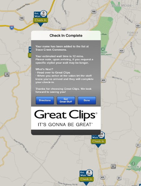 Great Clips App Check-In