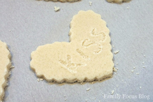 Salt Dough Conversation Hearts Valentine Craft