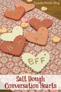 Salt Dough Conversation Hearts Valentine Craft