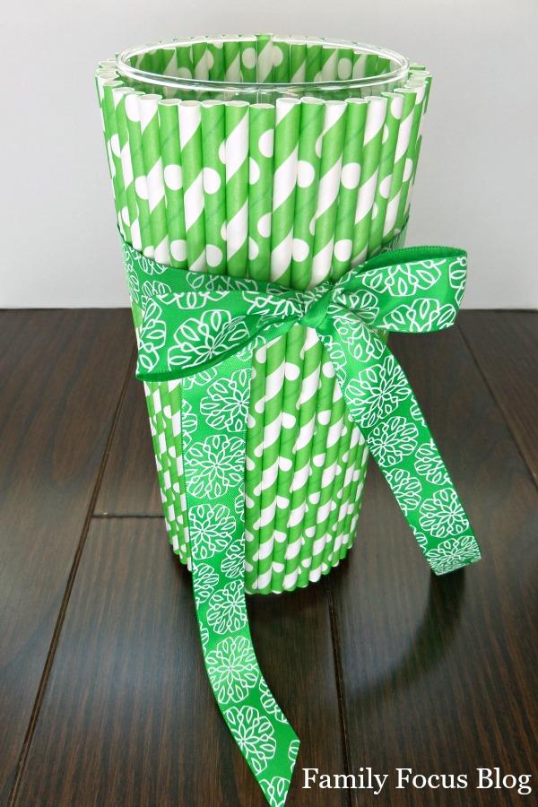 Paper Straw Vase