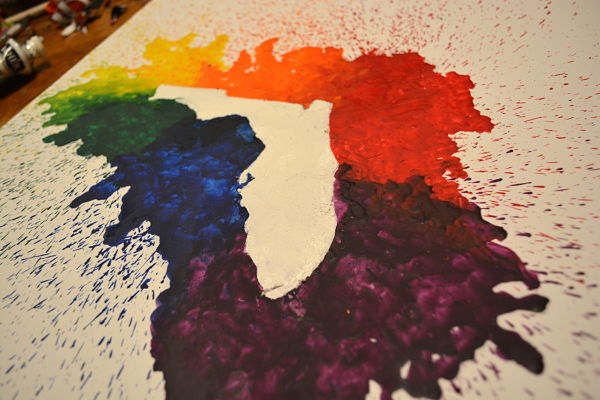 how to make melted crayon art silhouette