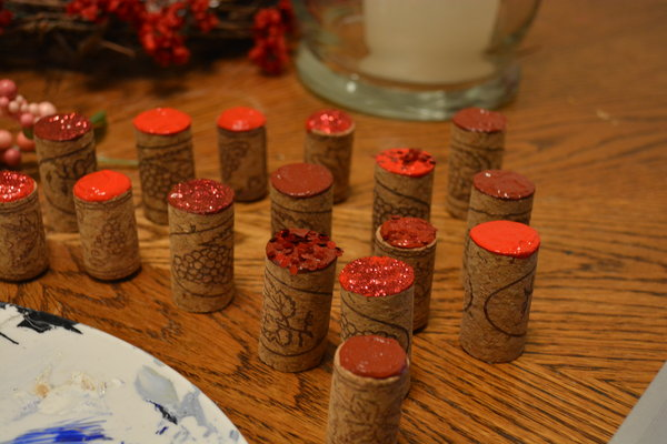 DIY Valentine's Day Wine Cork Decor