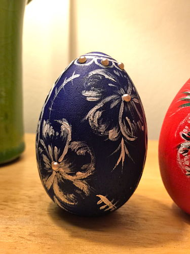 wooden painted easter eggs