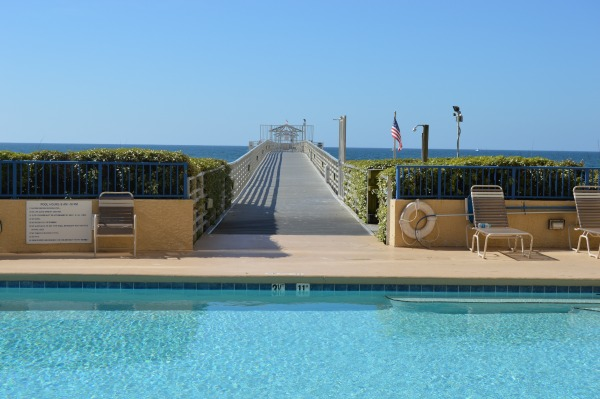 orange beach condo pool, pier, and beach access
