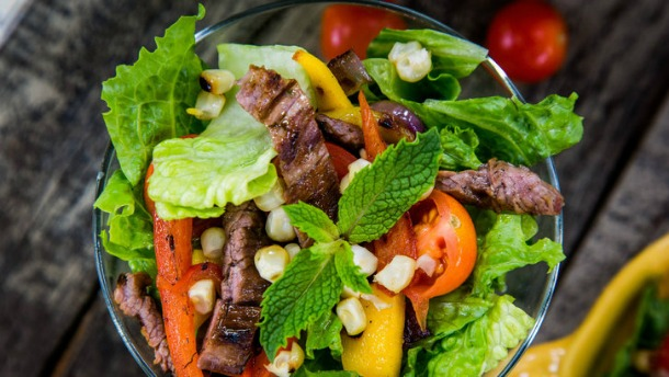 mojito grilled steak salad