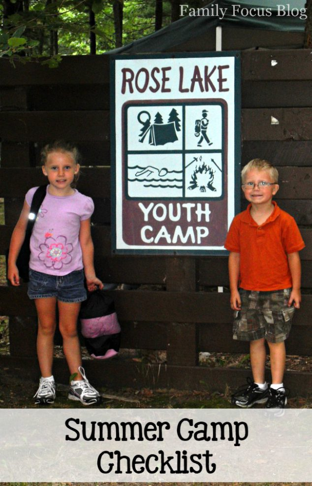 Summer Camp Checklist