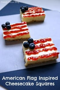 American Flag Inspired Cheesecake Squares