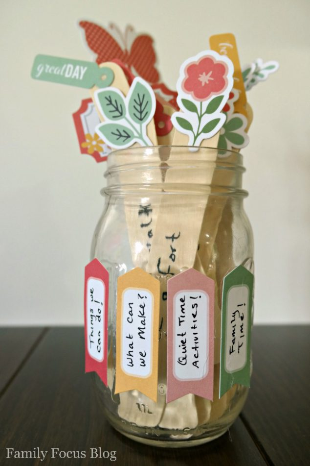 Make An I M Bored Jar Full Of Fun Things To Do When Bored Family Focus Blog