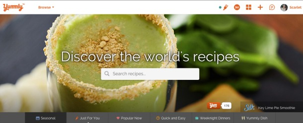 Yummly online recipes