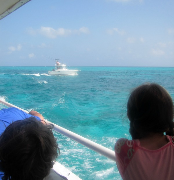 beautiful blue waters of the Grand Caymans