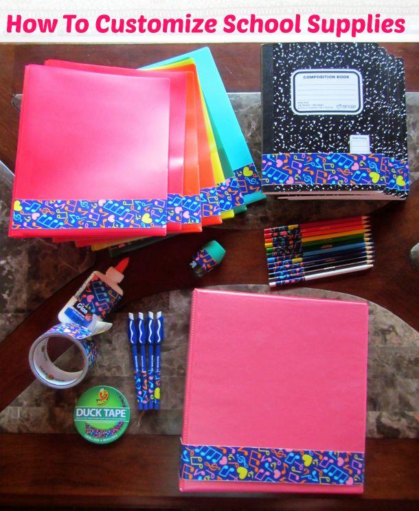 customize school supplies