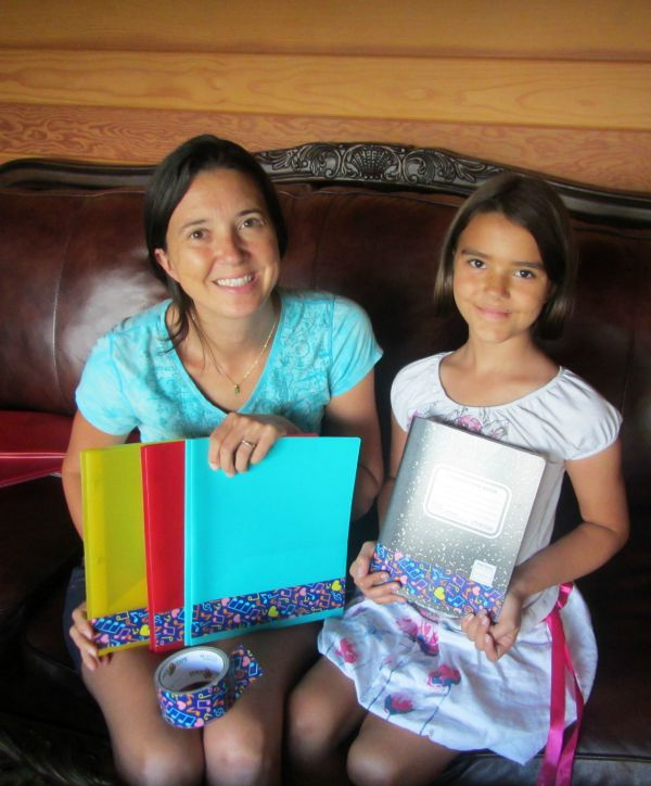 customizing school supplies craft