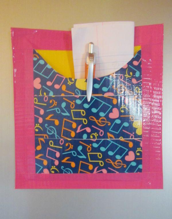 duct tape diy locker pocket craft
