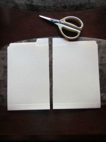 manilla folder in half