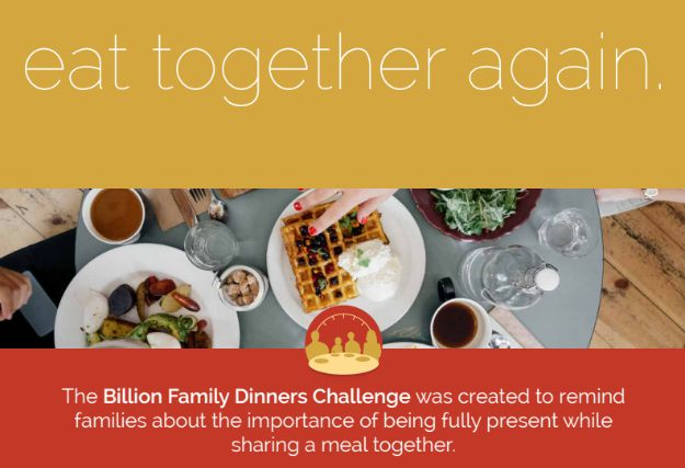 Billion Family Dinners Challenge