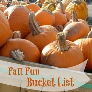 Fall Fun Bucket List