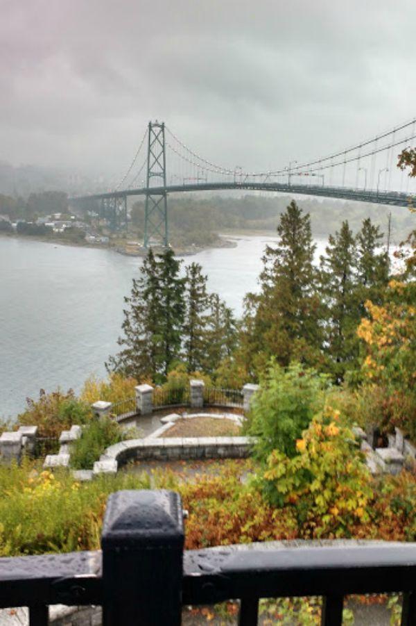 Lions Gate Bridge Bridge as seen from Stanley Park, Vancouver, British Columbia