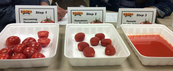 Tomatoes step by step