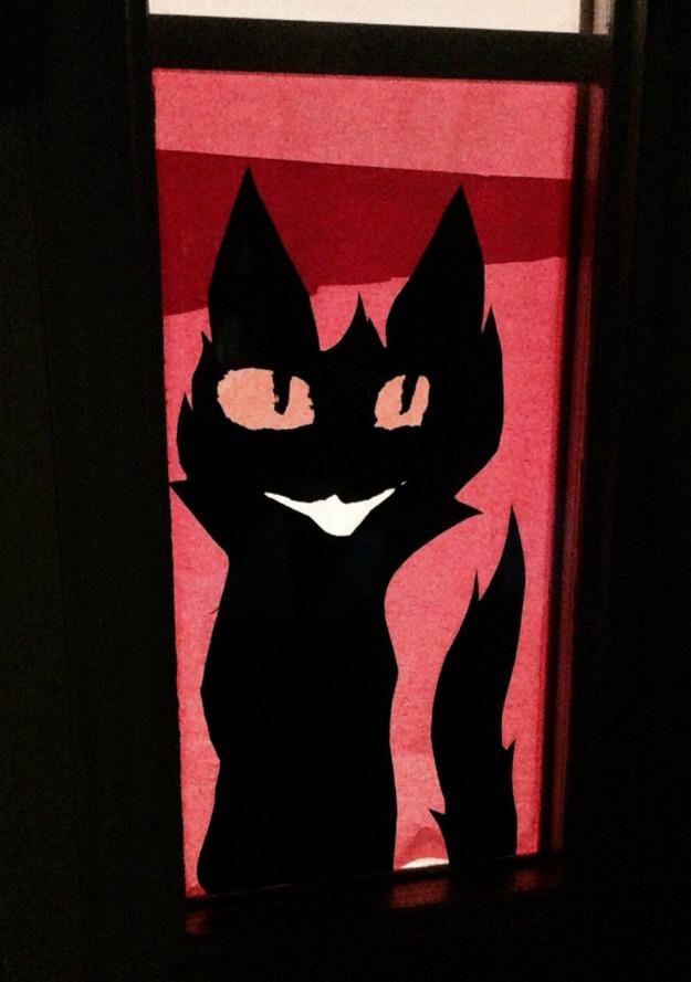 cat window silhouette