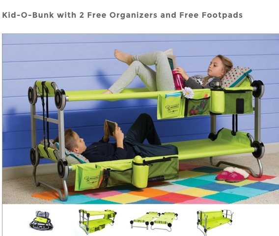 folding bunk bed for kids
