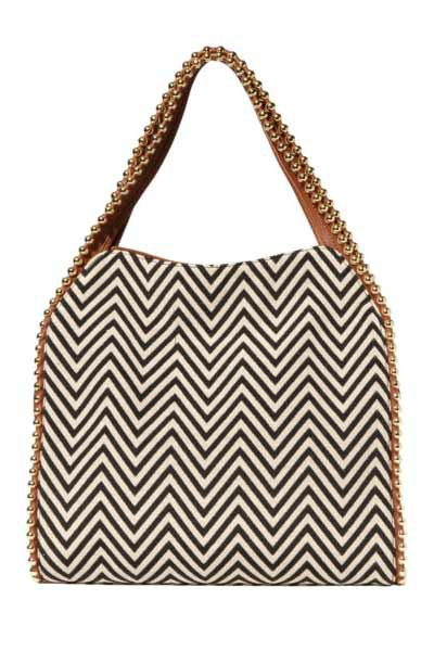Big Buddha Grayson Shoulder Bag in Zig Zag