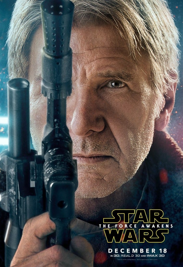 Hans Solo The Force Awakens Poster