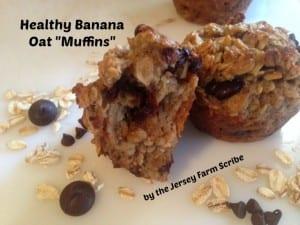 Healthy Banana Oat Muffins