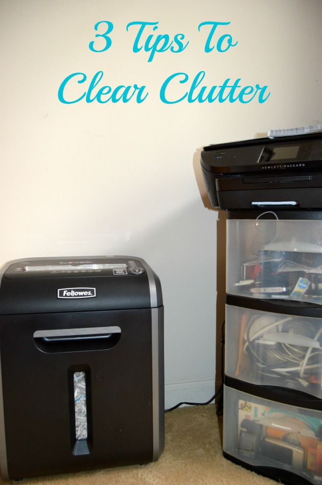 tips to clear clutter
