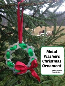 metal washers Christmas ornament