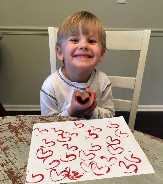 heart stamp craft