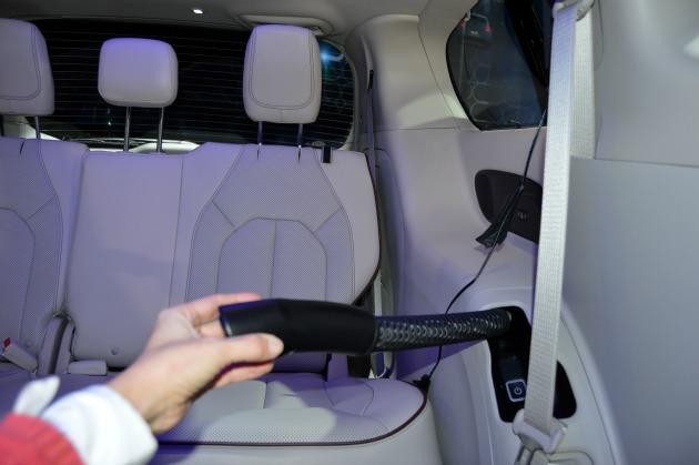 hybrid minivan with built in vacuum