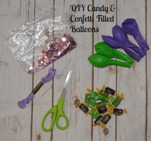 DIY Candy Confetti Filled Balloons