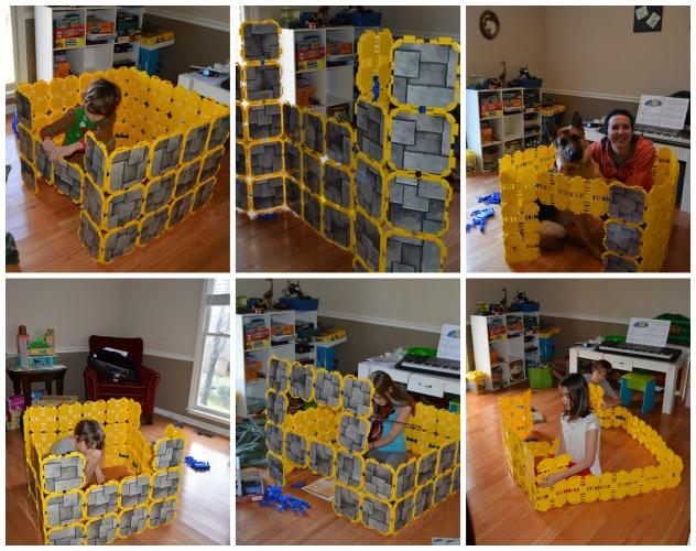 indoor fort building kits kids