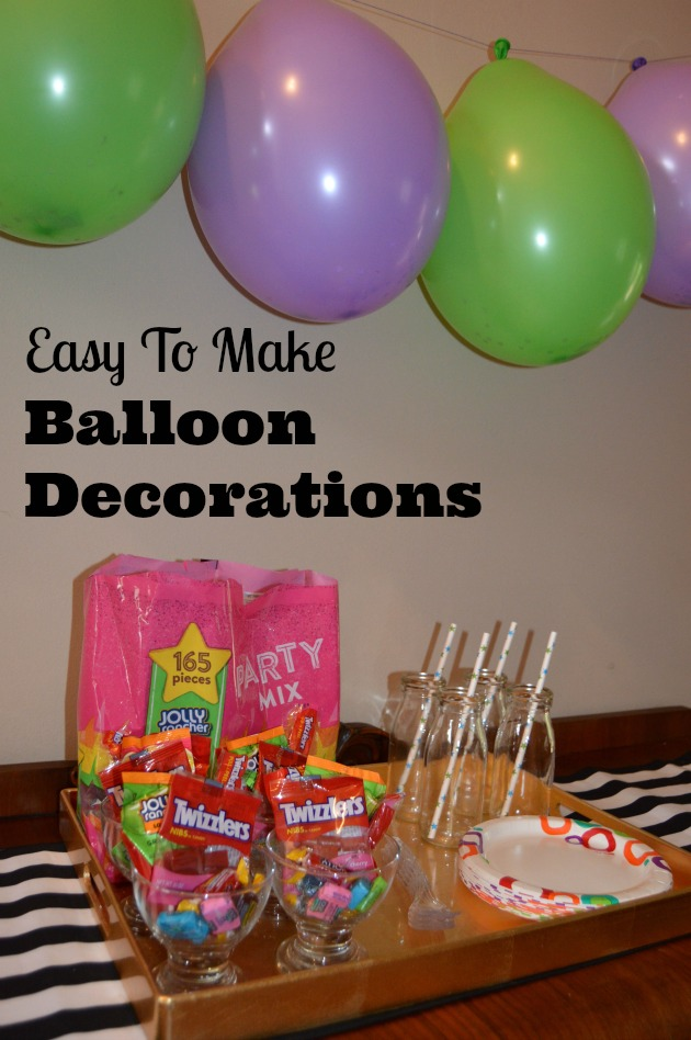 how to make balloon decorations for birthday