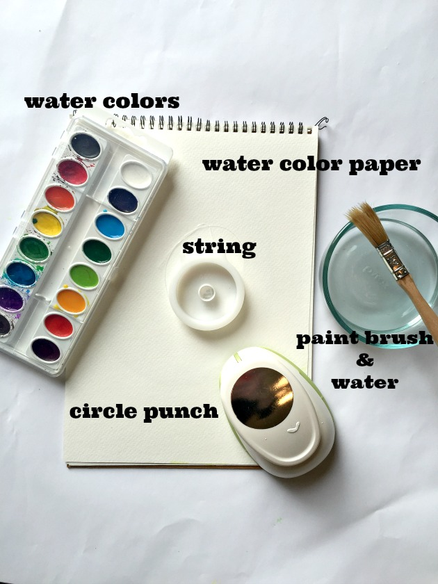 water color art project supplies