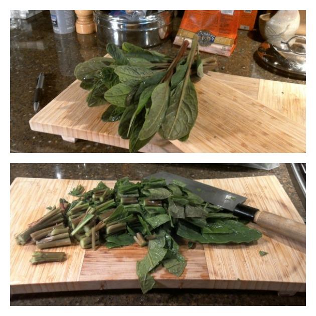 prepare poke salad greens