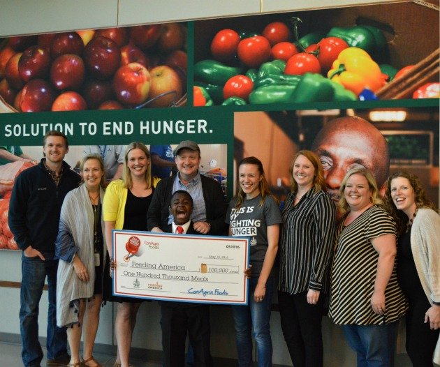 100,000 Meals donated
