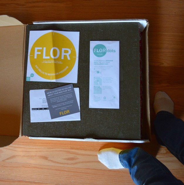 FLOR carpet squares in box