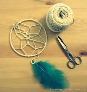 Make-a-Dream-catcher-craft
