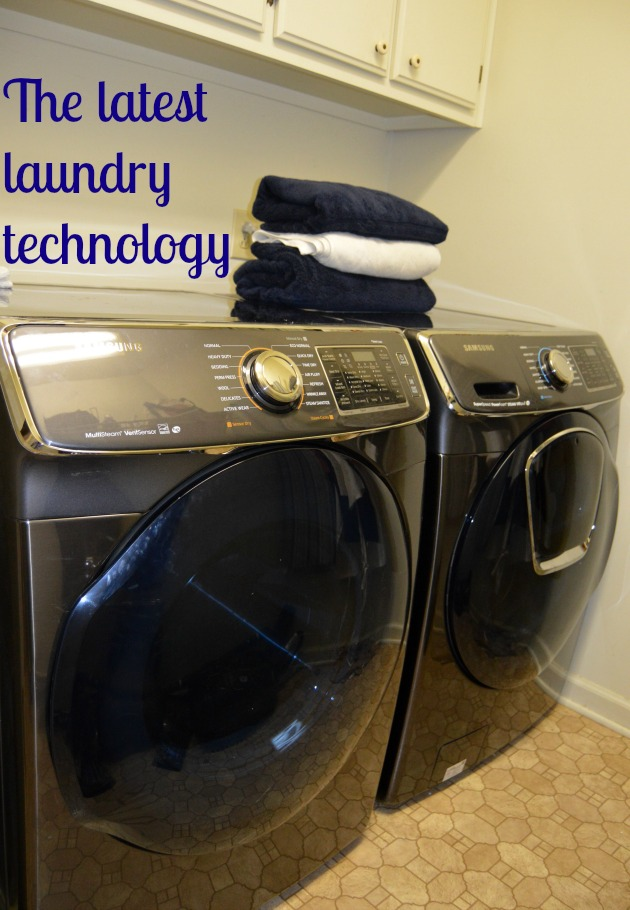 latest laundry technology- samsung washer and dryer