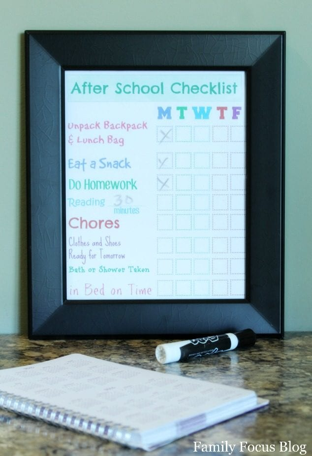 Dry Erase Checklist For Children